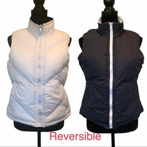 Puffer vest sleeveless and reversible size small